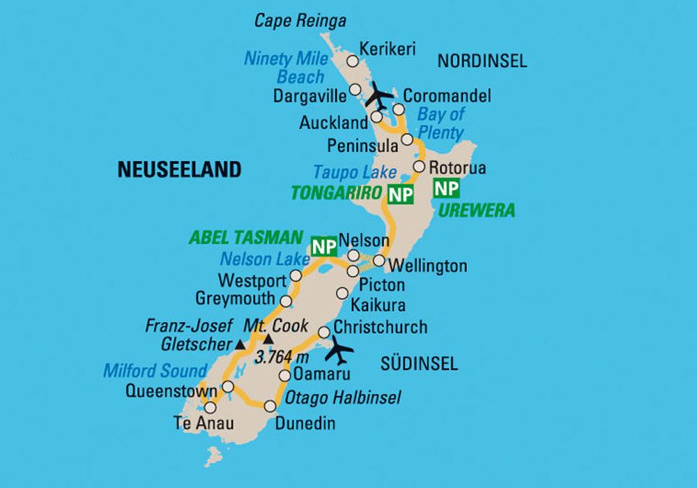 Karte Neuseeland Südinsel Zum Ausdrucken.Top 10 Punto Medio Noticias Neuseeland Südinsel Karte