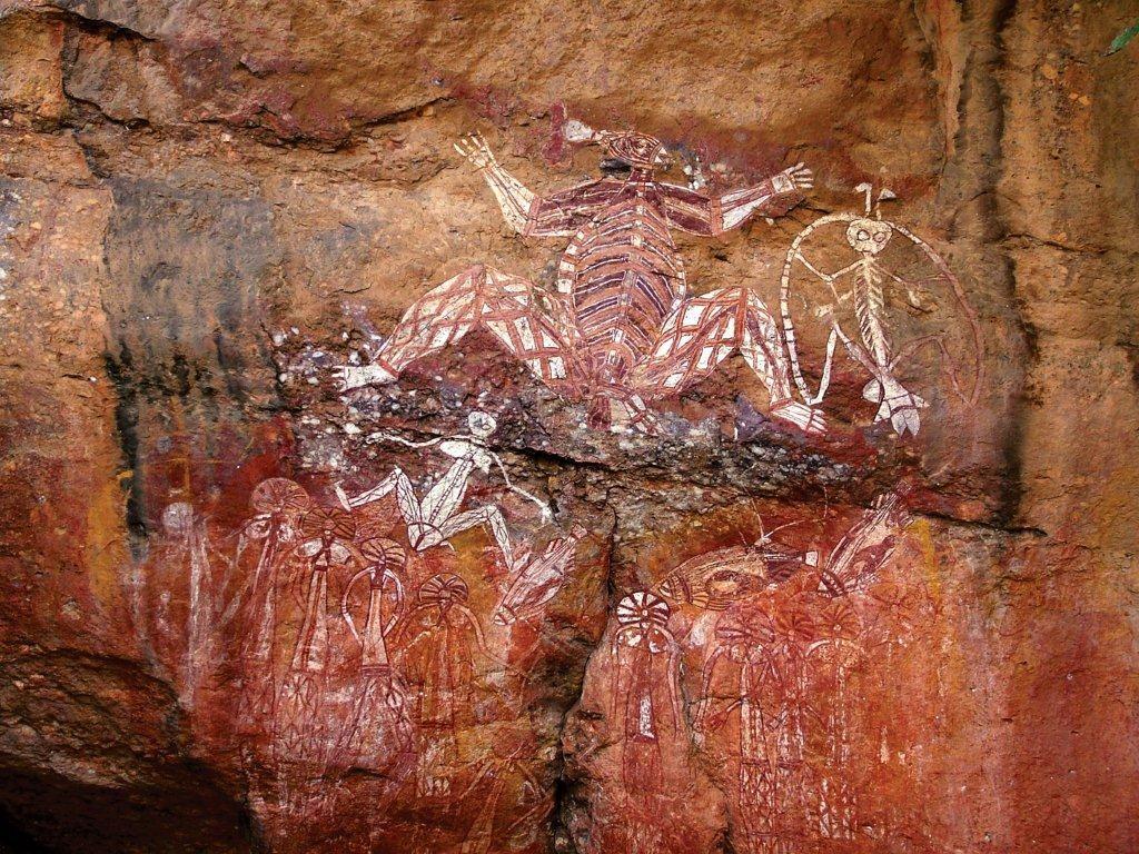 Aborigines Wandmalerei