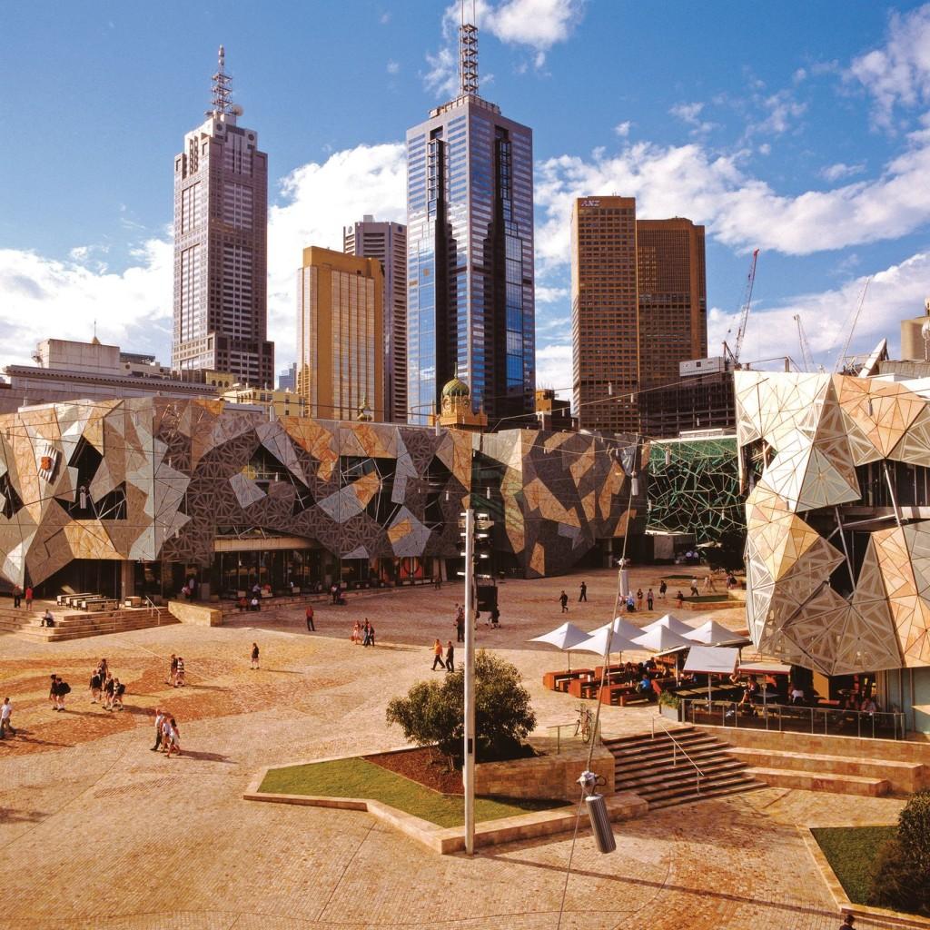 Melbourne Urlaub - Federation Square
