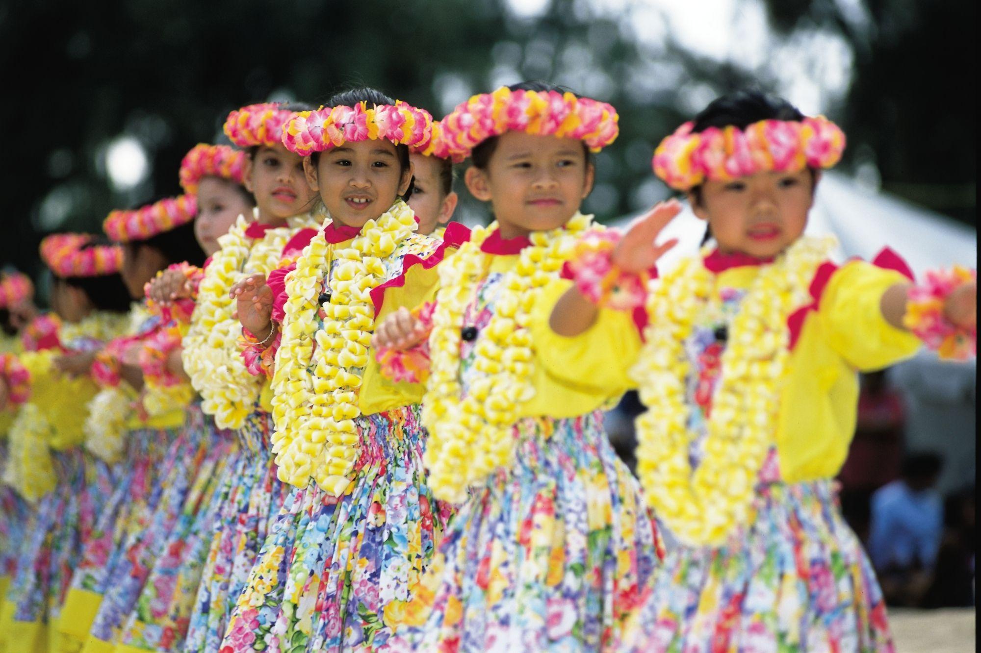 Keiki Hula Tänzer Hawaii