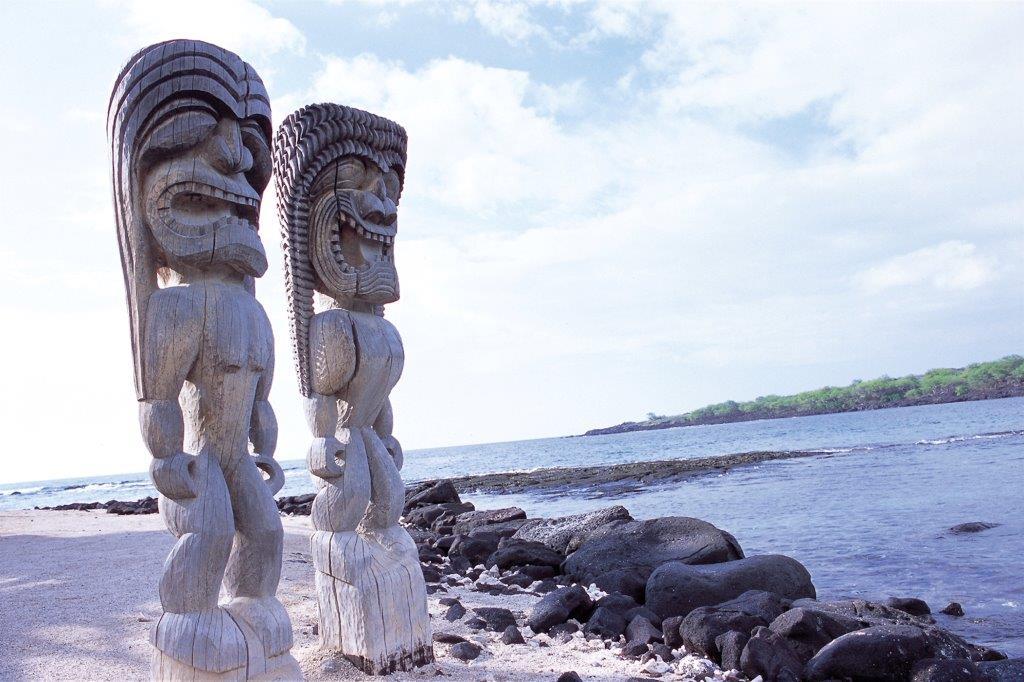 Hawaii Tiki Figuren