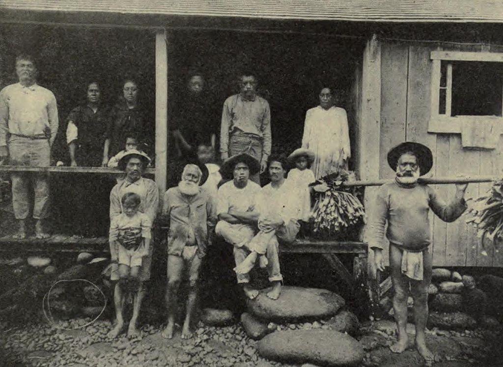 hawaiianische_Ureinwohner auf Molokai_1899