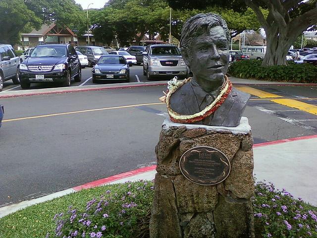 Jack Lord Statue in Wakiki