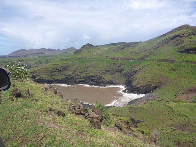 Die Küstengewässer nach einem Platzregen