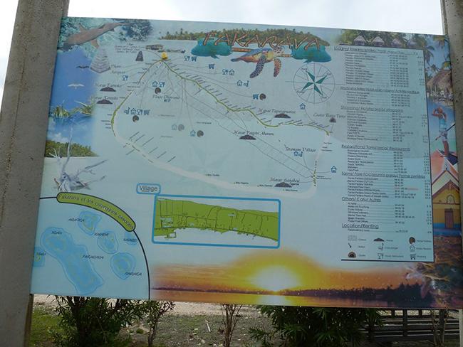 Karte für Touristen
