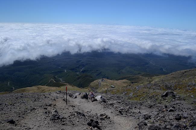 Aufstieg auf den Vulkan