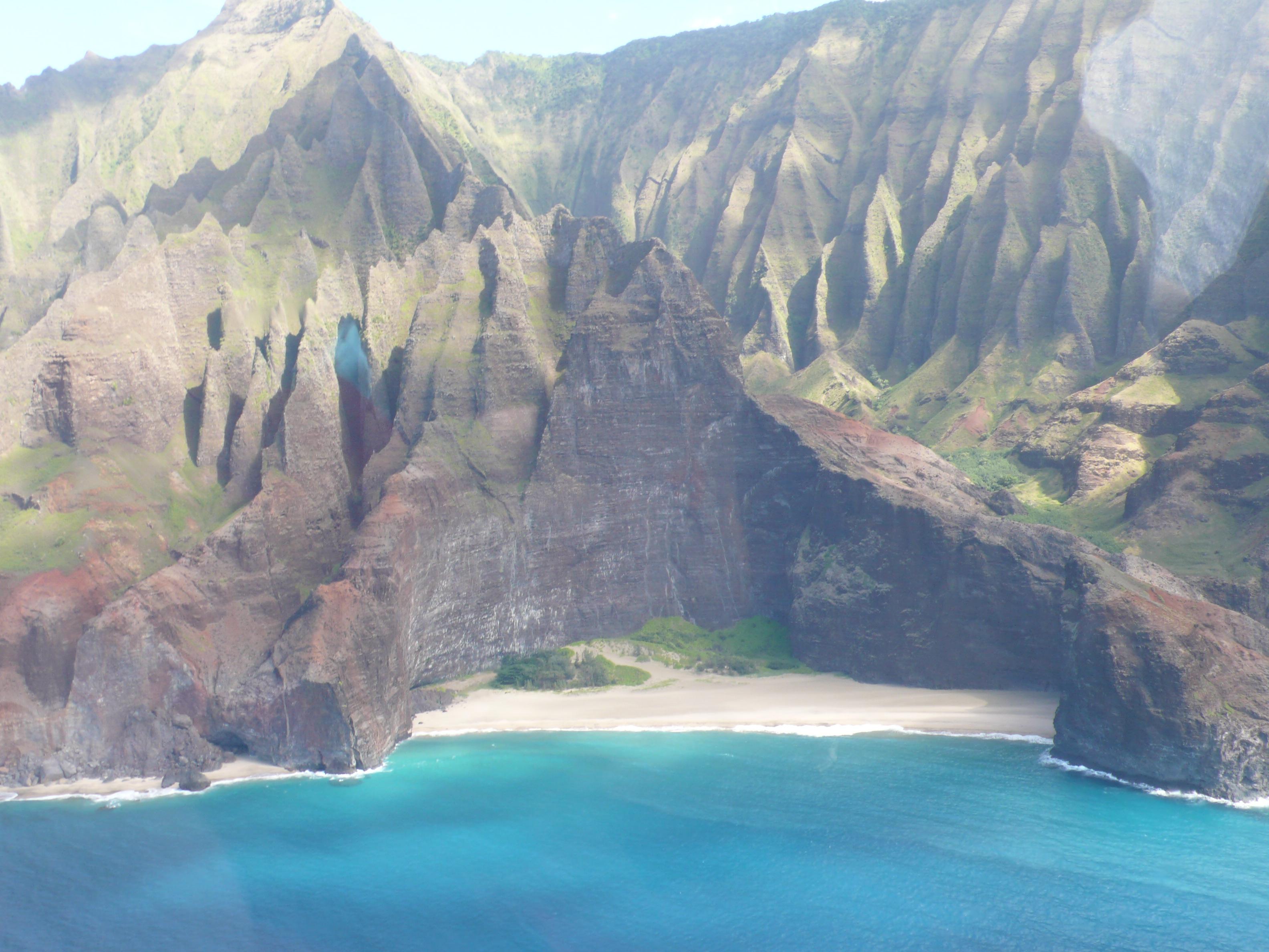 Kauai: Küstenformation - vom Hubschrauber aus