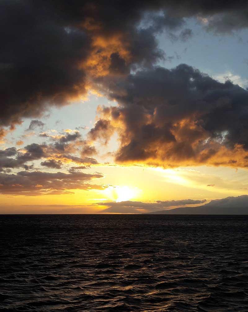Sonnenuntergang vor Kauai