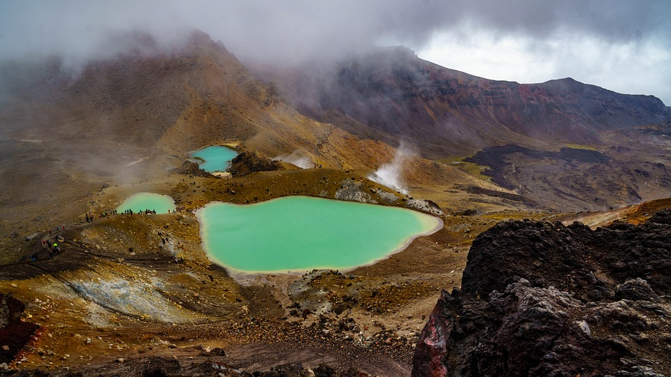 Vulkan- & Seenlandschaft im Tongariro Nationalpark