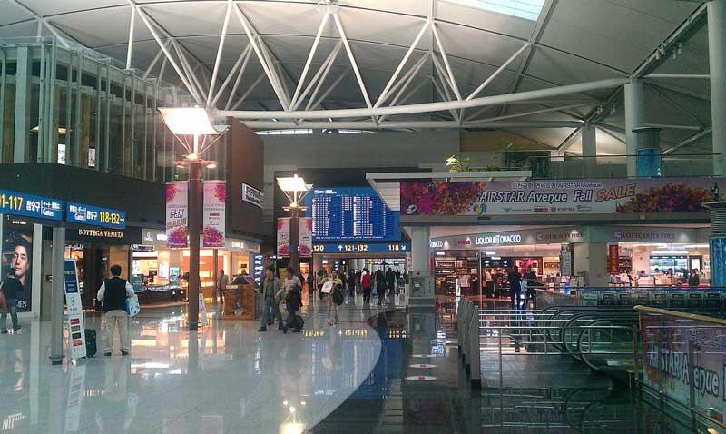 Flughafen Incheon in Seoul
