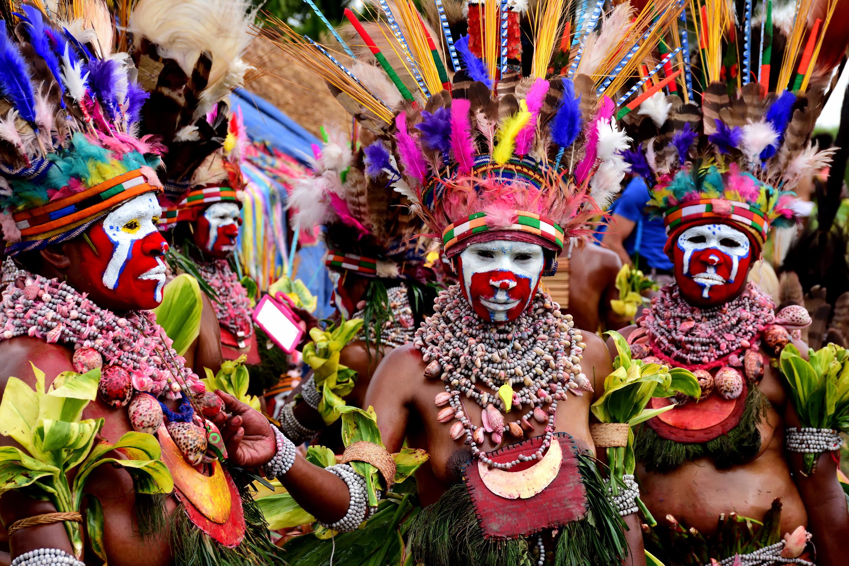 Teilnehmer der Mount Hagen Show PNG