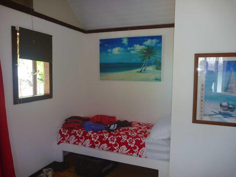 Zimmer in der Havaiki Lodge