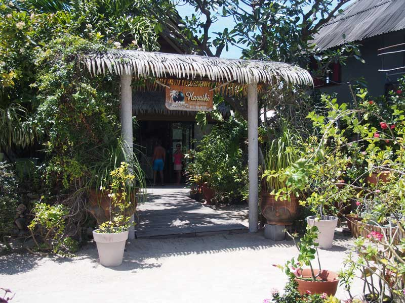 Restaurant der Havaiki Lodge