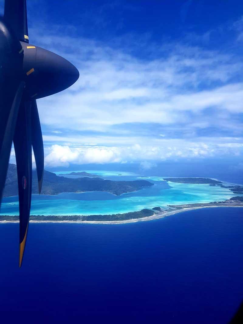 Anflug auf Bora Bora