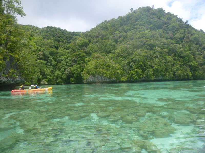 Kanutour in Palau