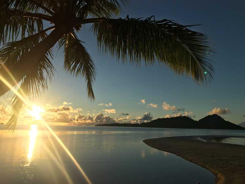 Sonnenaufgang in Mikronesien
