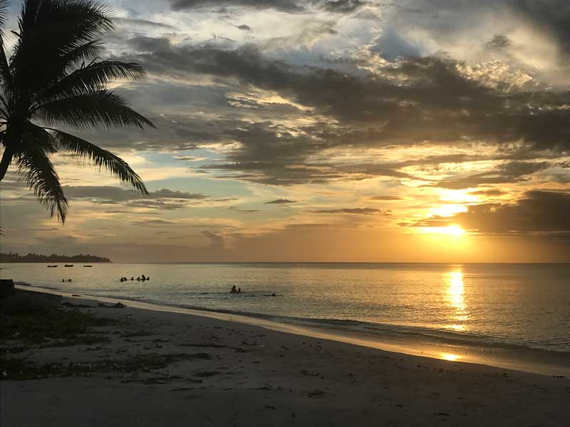 Sonnenuntergang in Tuvalu