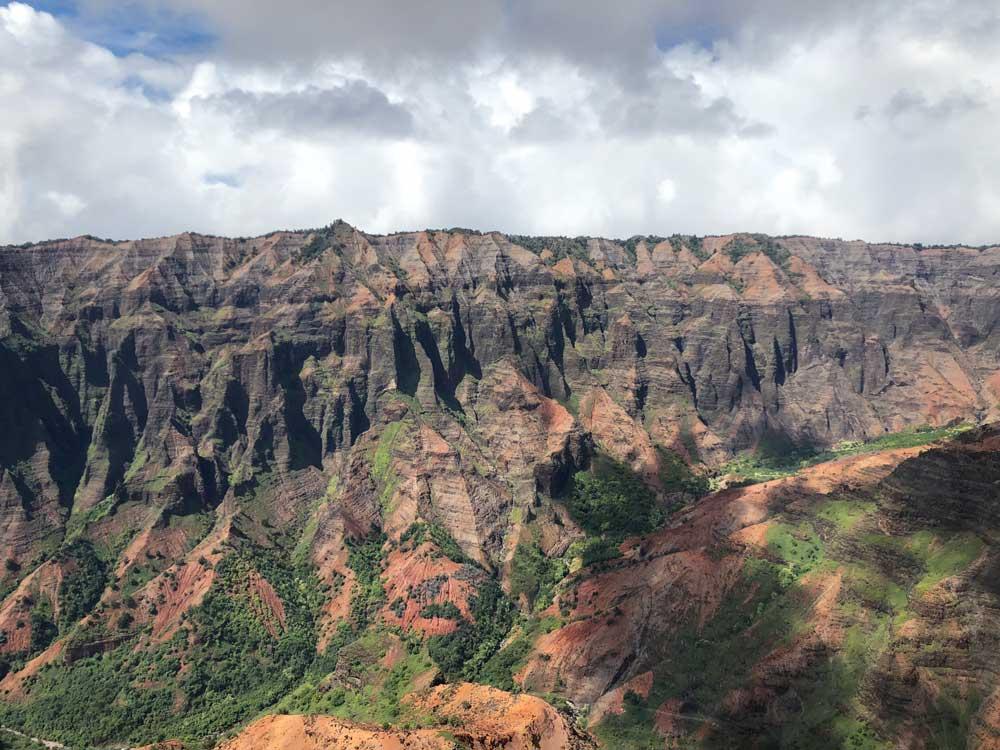 Waimea Canyon vom Hubschrauber aus
