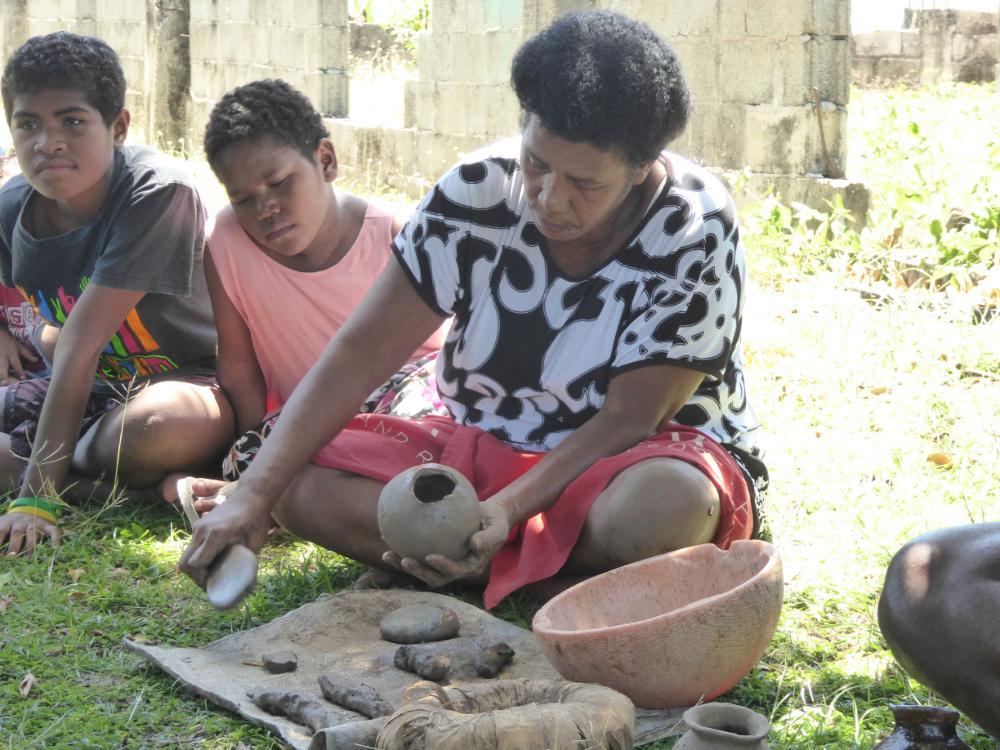 Dorfbewohner der Mamanuca Inseln