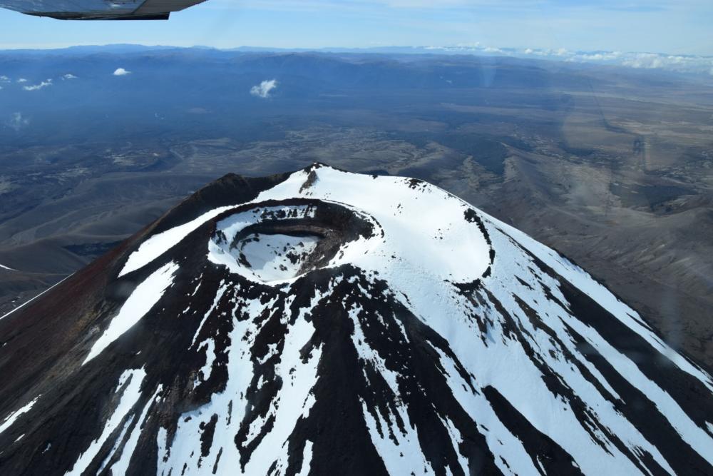 Helikopterflug über den Tongariro Nationalpark