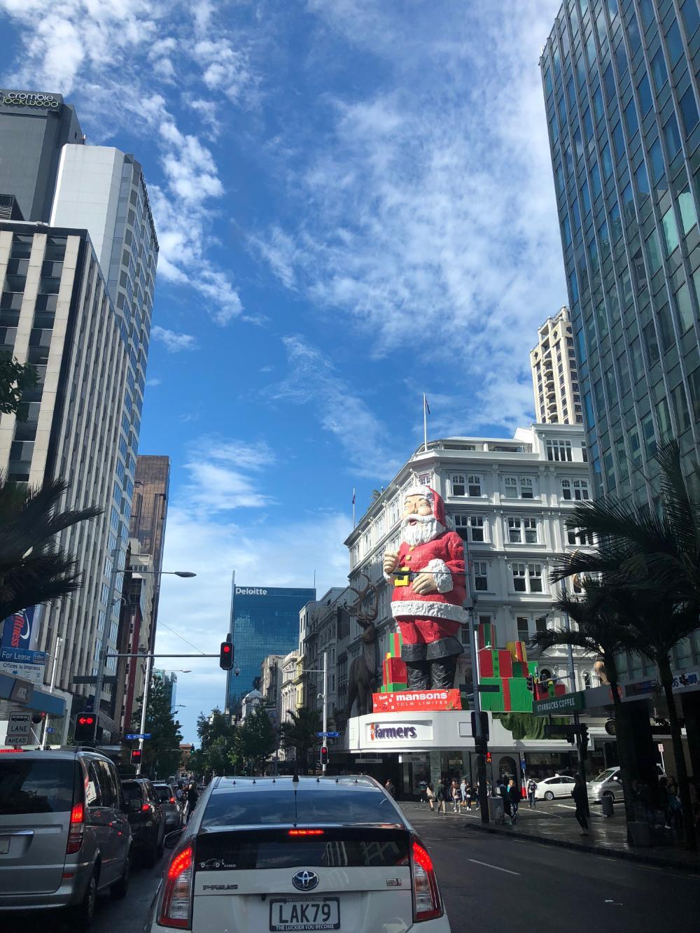 Straßenzug in Auckland