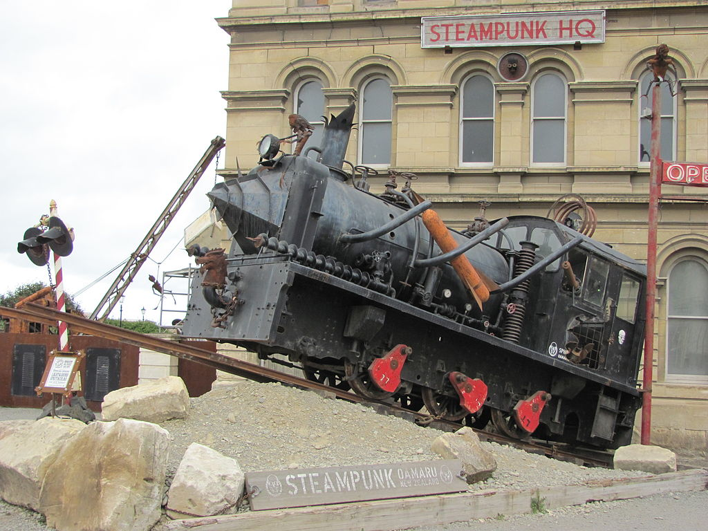 Eingang des Steampunk HQ in Oamaru