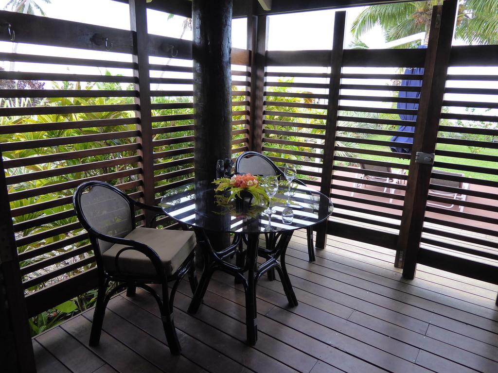 Terrasse des Aroha Taveuni Resort
