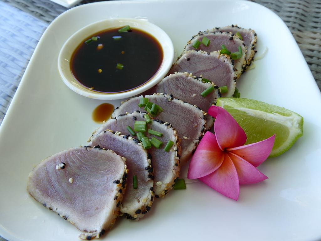 Thunfisch mit Sesam in Hoisinsauce auf Samoa