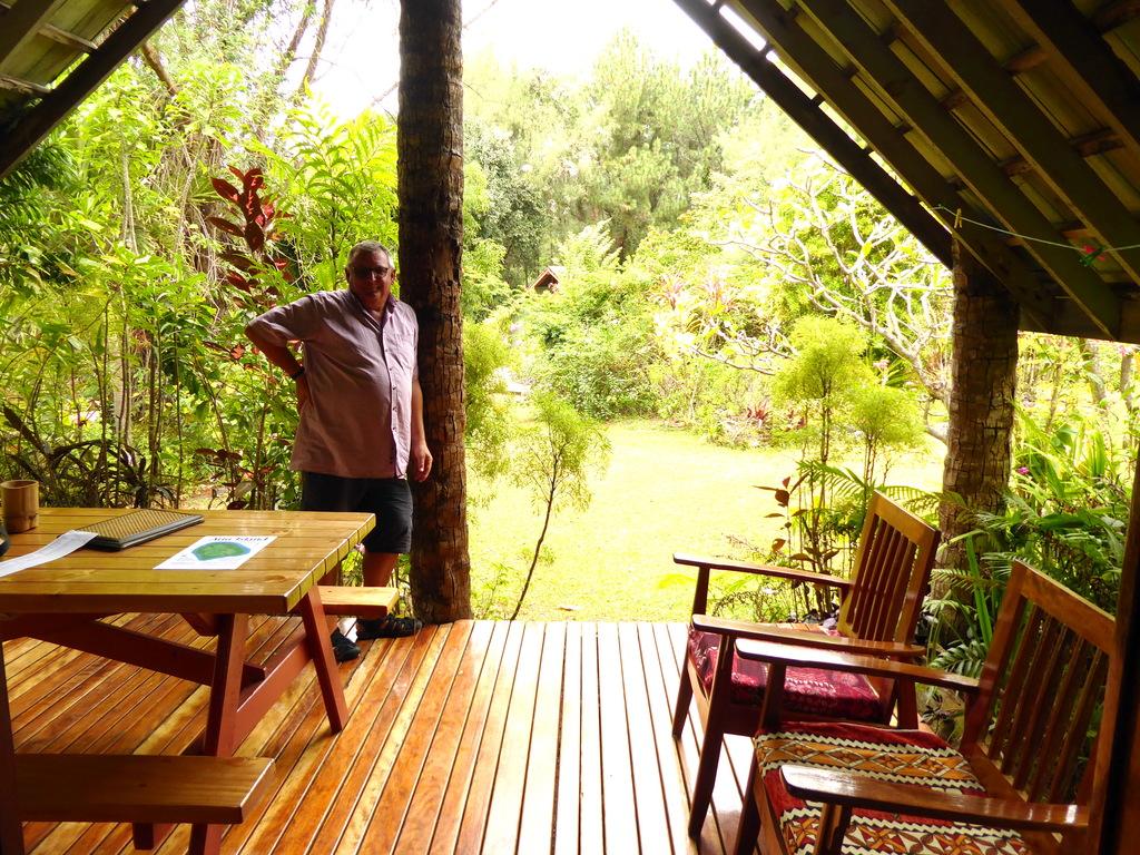 Terrasse der Atiu Villas Cook Inseln