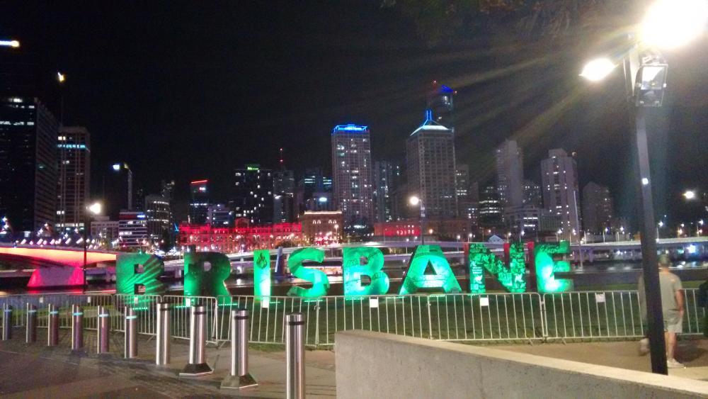 Brisbane Schild in Brisbane