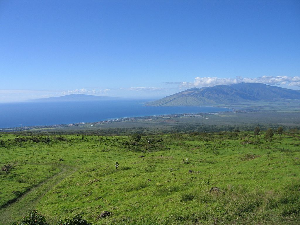 Lanai von Maui aus gesehen