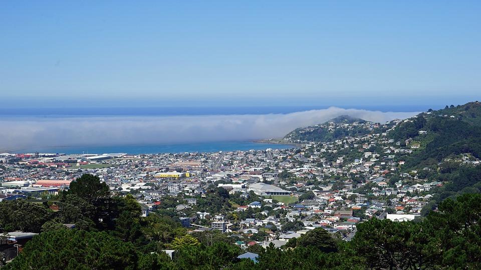 Blick vom Mt. Victoria auf Wellington