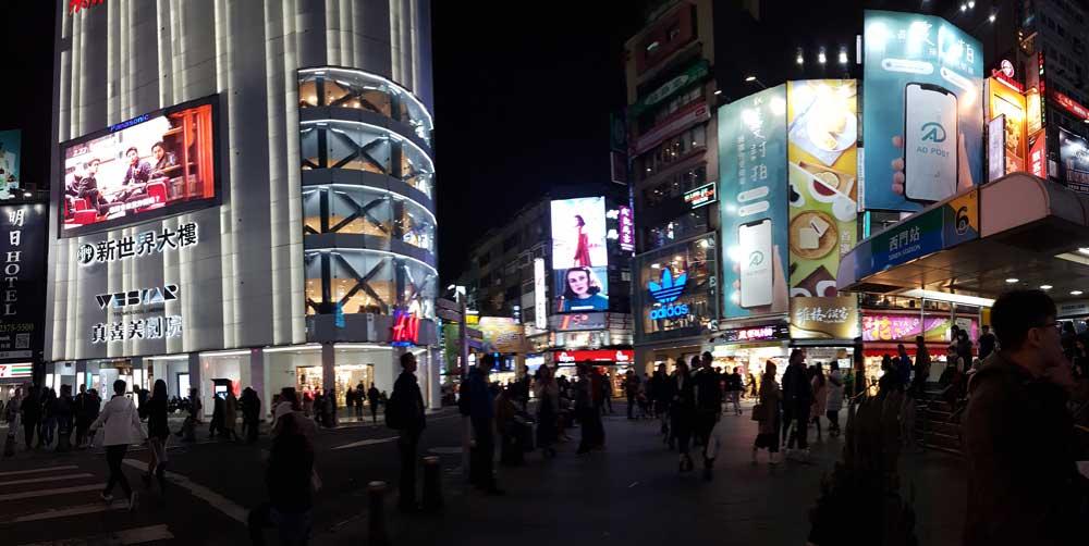 Taipeh bei Nacht
