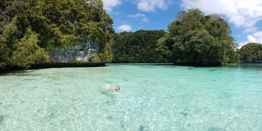 Schwimmen zwischen den Rock Islands Palau