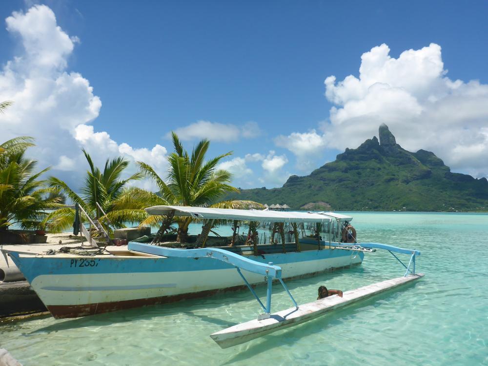 Blick über die Lagune in Bora Bora