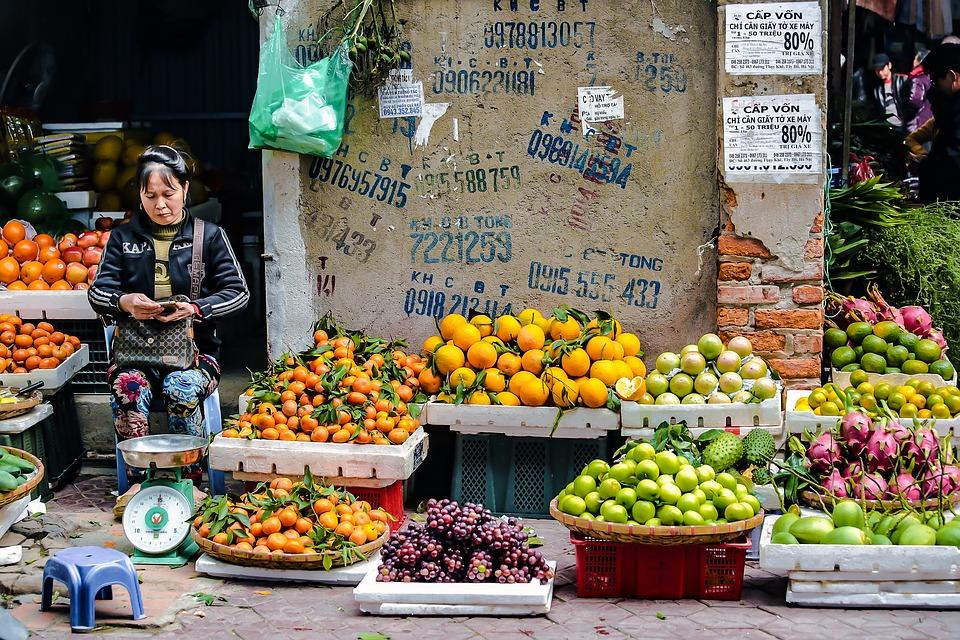 Markt in Hanoi Fruchtverkauf