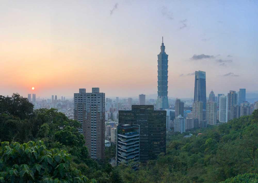 Skyline von Taipeh