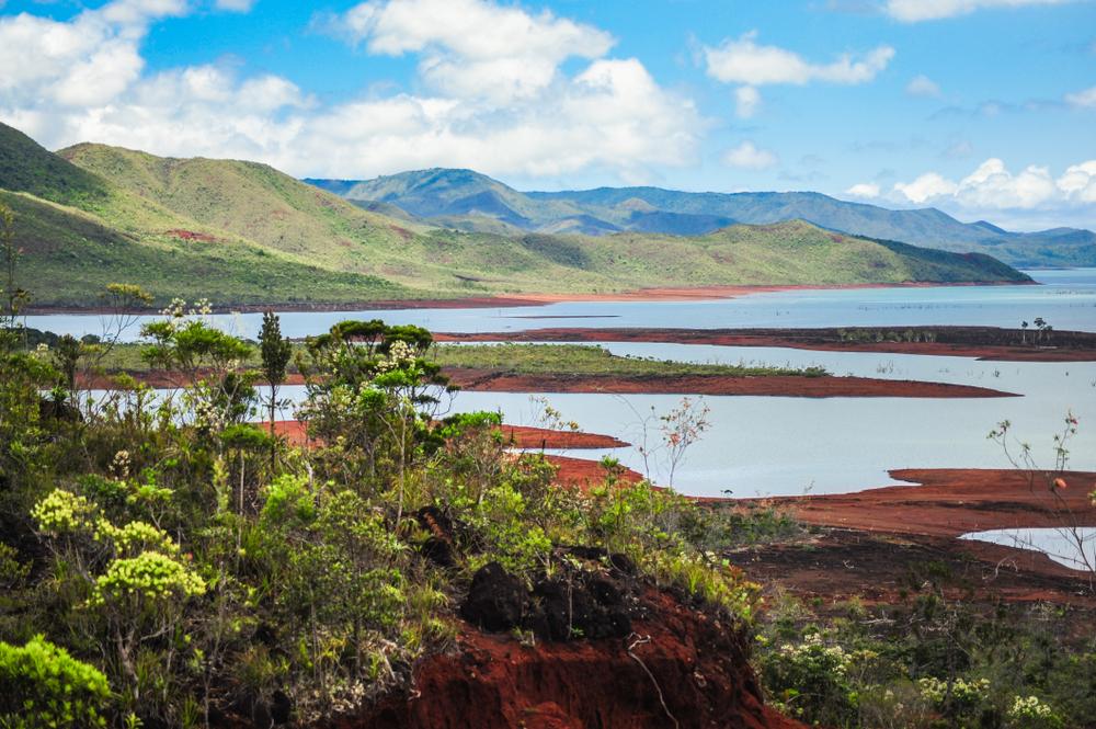 Blick auf den Parc Riviere Bleue in Neukaledonien