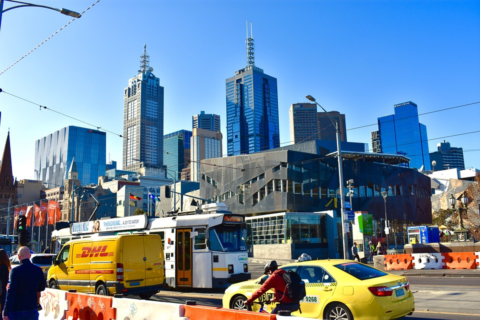 Melbourne Strassenszene