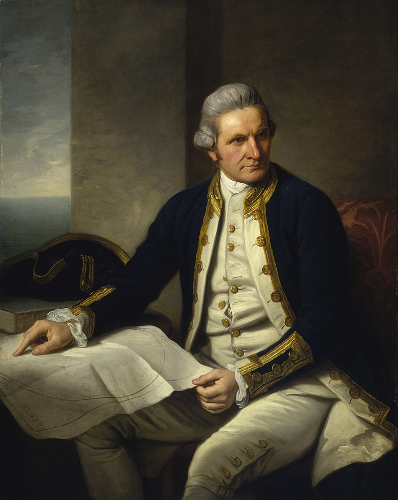 Portrait von Captain James Cook