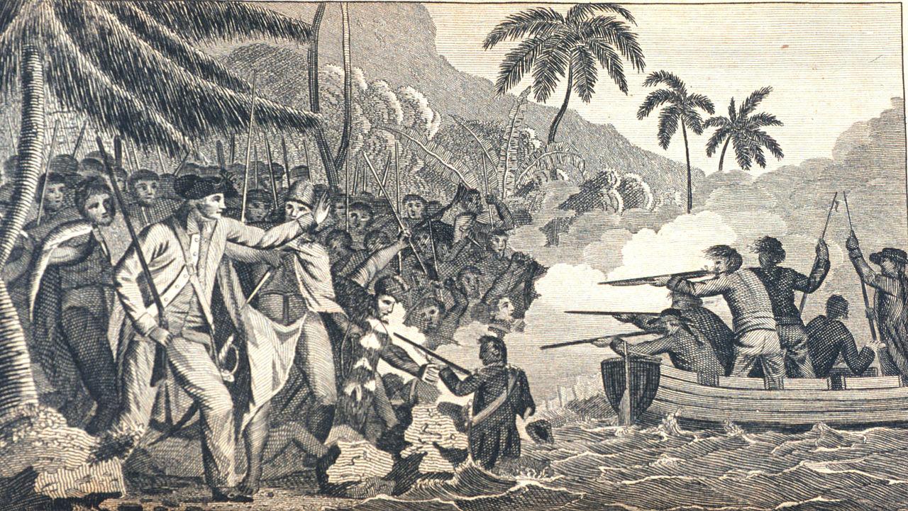 Gemälde vom Tod von Captain Cook