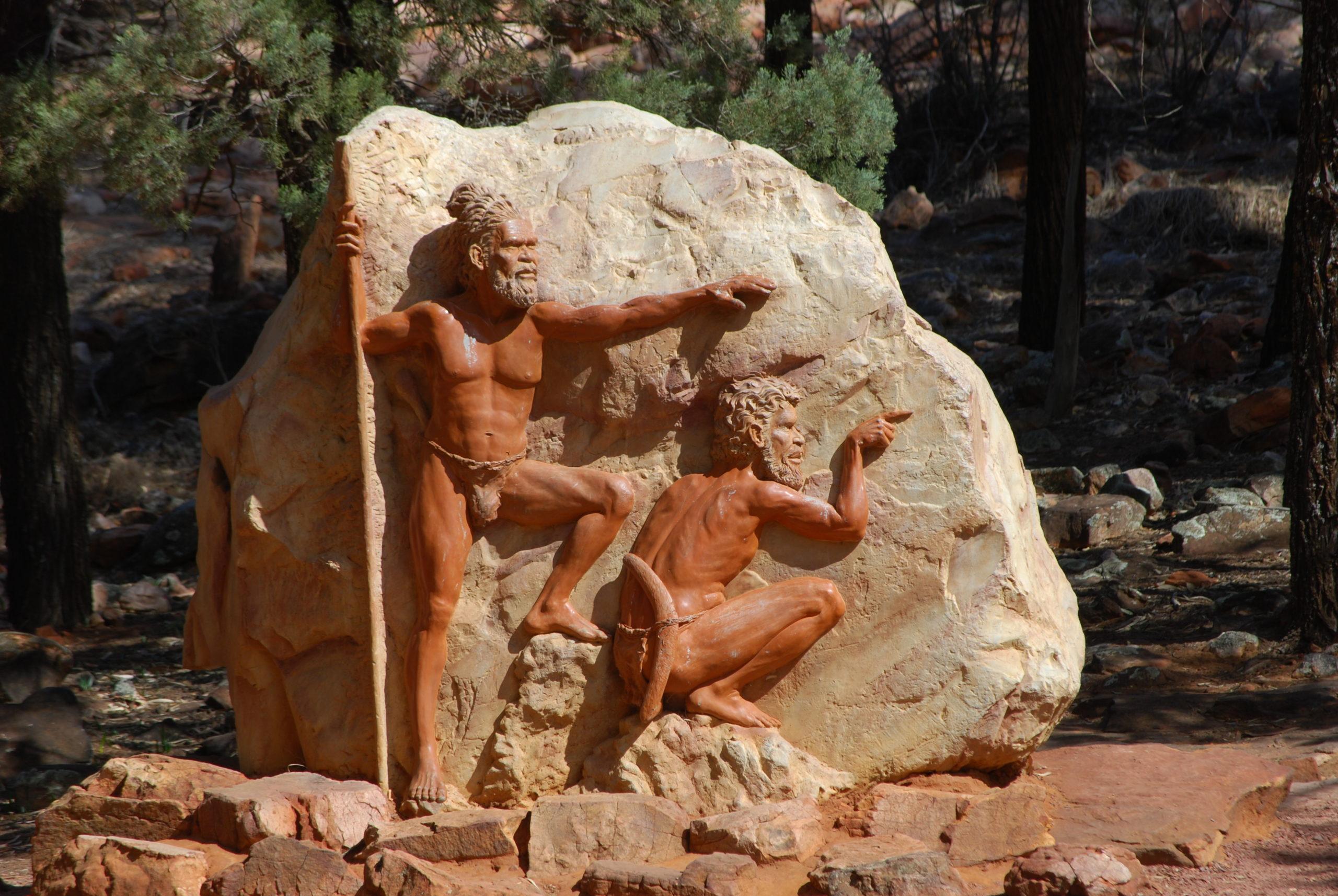 Skulptur im Wilpena Pound