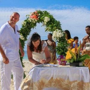 Hochzeit auf den Fiji Inseln