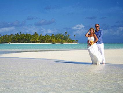 Brautpaar auf One Foot Island