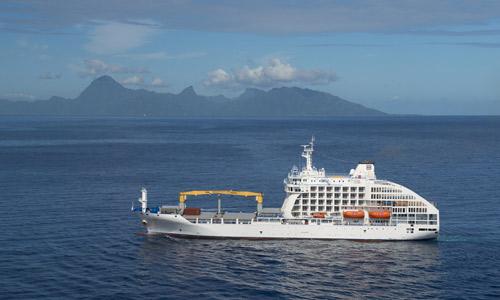 Aranui 5 auf hoher See